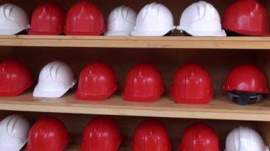 Mine Helmets, Head Protection, Hard Hats — Stockvideo