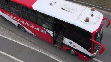 Buses, Roads, Public Transportation, Mass Transit — Wideo stockowe