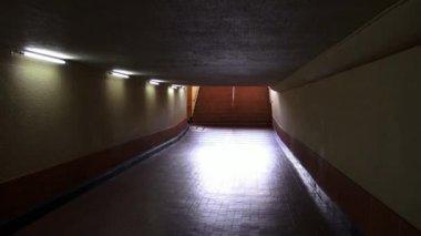Tunnels, Underpass, Pedestrian, Walking — Stock Video