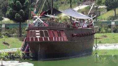 Pirate Ships, Boats, Sailboats, Watercraft — Video Stock