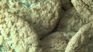Oatmeal Cookies, Oats, Snacks — Stock Video