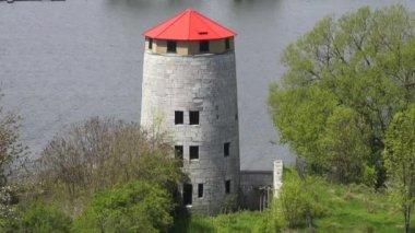 中世纪的古老建筑,城堡塔 — 图库视频影像