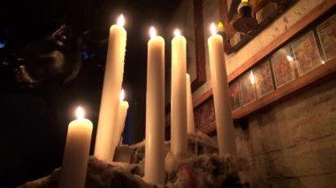Candles, Wax, Fire, Light — Stock Video