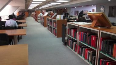 Library, Book Store, Books, Study Hall — Vídeo Stock