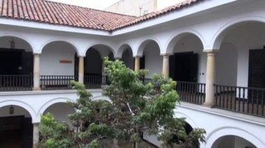 Spanish Colonial Buildings, Old Architecture — Stock Video