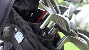 Golf Clubs, Golf Bag — Vídeo de Stock