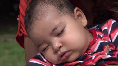Sleeping Baby, Infant, Asleep — Stock Video