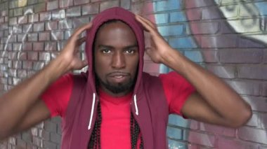 Hombre hombre del afroamericano, negro, hombres — Vídeo de Stock