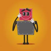 Love robot vector — Stock Vector
