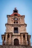 Roloi Clock Tower, Rhodes Island, Greece — Stock Photo