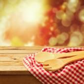 Autumn background with kitchen utensil — Stock Photo