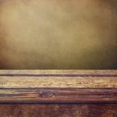 Vintage wooden counter background — Stock Photo