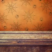 Halloween holiday table — Stock Photo