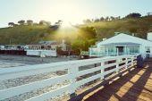 Malibu Pier, Malibu, California, USA — Stok fotoğraf