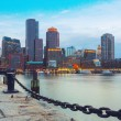 Boston Harbor and Financial District — Stock Photo #52486825