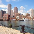 Boston Harbor and Financial District — Stock Photo #52487345