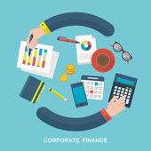 Illustration of corporate finance concept — Stock Vector