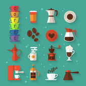 Icons for coffee shop and restaurant — Stock Vector