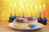 Jewish holiday Hanukkah — Stock Photo