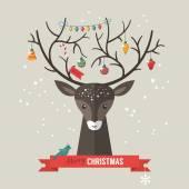 Christmas holiday modern flat design — Stock Vector