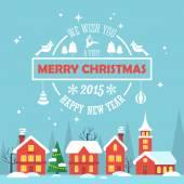 Cartão de feliz natal — Vetorial Stock