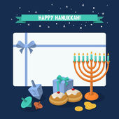 Jewish Holiday Hanukkah elements — Stock Vector