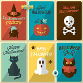 Modern greeting cards for Halloween — 图库矢量图片
