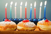 Hanukkah traditional donuts — Stock Photo