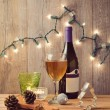 Wine and Christmas lights — Stock Photo #55294021