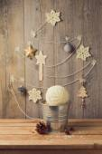 Christmas tree made from yarn — Stockfoto