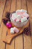 Marshmallow for Christmas dessert — Stock Photo