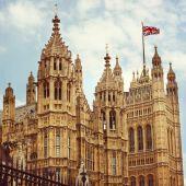 Domy parlamentu w londynie — Zdjęcie stockowe
