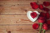 Rosor och blomblad — Stockfoto