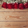 Valentine's day background with roses — Stock Photo #61953763