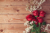 Valentine's day background with roses — Stock fotografie
