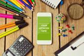Smartphone mock up template — Stock Photo