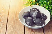 Easter eggs painted with chalkboard paint — Foto de Stock