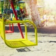 Playground swing in camping area — Stock Photo #66530083