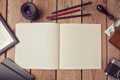 Notebook mock up for drawing — Stock Photo