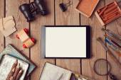 Tablet mock up for creative work — Stock Photo