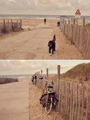 Autumn beach  in Hague — Photo