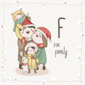 Alphabet Christmas, Letter F — Stock Vector