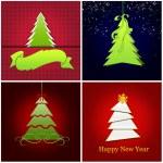 Four Christmas card set — Stock Photo #54082343