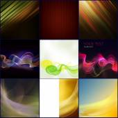 Abstract background. A series of nine images. — Stock Photo