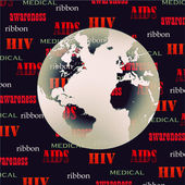 Stop AIDS background — Stock Photo