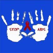 阻止艾滋病背景 — 图库照片
