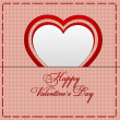 Valentines day card with heart — Stock Photo #59134485