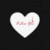 I Love You card with heart — Stock Photo