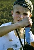 Barn i krig — Stockfoto