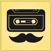 Music vector  cassette — Διανυσματικό Αρχείο